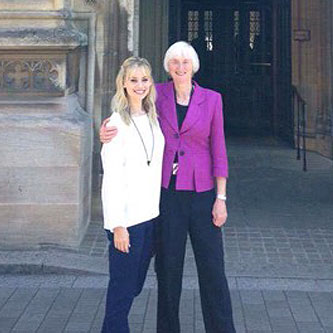 Kimberly with Baroness Campbell